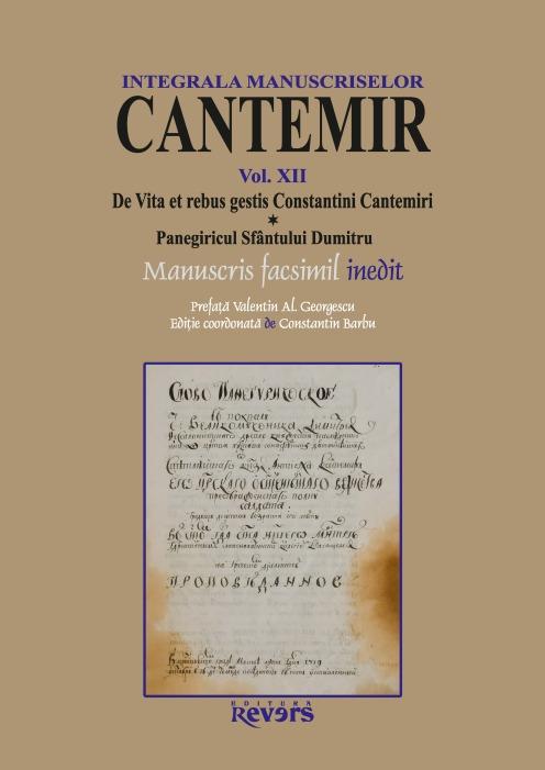 XII. De Vita et rebus gestis Constantini Cantemiri. Panegiricul Sfantului Dumitru