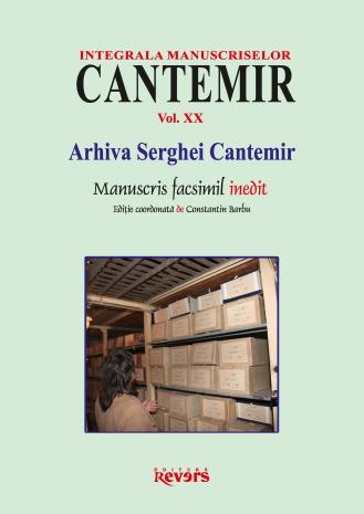 XX. Arhiva Serghei Cantemir