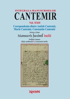 XXII. Corespondenta dintre Antioh Cantemir, Maria Cantemir, Constantin Cantemir (II)