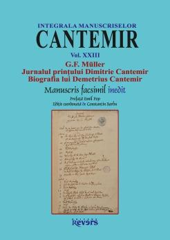 XXIII. G.F. Müller Jurnalul printului Dimitrie Cantemir