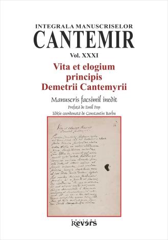XXXI. Vita et elogium principis Demetrii Cantemyrii