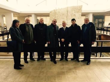 Lectia de istorie la Muzeul de Istorie cu ocazia vizitei in România a Dl Prof. Gunter Stock - Președinte Academiei din Berlin