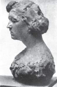 Portretul Victoriei Vaschidei - Lucrare din gips din anul 1905, pierdută/distrusă. Bibliografie: Brezianu, Spear, Geist, Hulten/Istrati, Bach.
