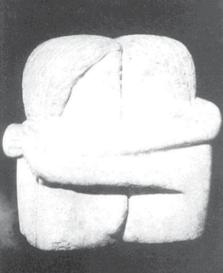 Sărutul - Lucrare în ghips 1907-1908, distrusă în anii `50. Bibliografie: Geidion-Welcker, Jianu, Spear, Geist,Storck, Jianu/Noica, Hulten/Istrati, Bach.